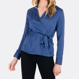 Forcast McKenna crossover wrap blouse